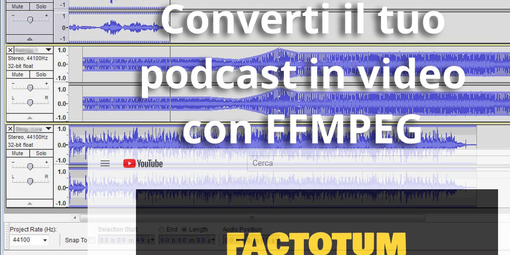 come convertire podcast in video per youtube