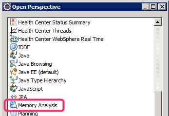 selezionata dal menu la voce Memory Analysis